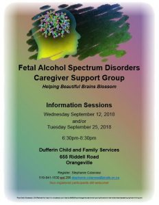 fetal alcohol spectrum disorders support group, disability, community living guelph wellington, dufferin child and family services