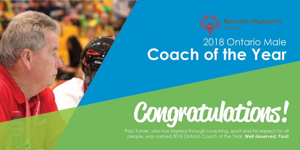 paul turner special olympics ontario coach of the year community living guelph wellington