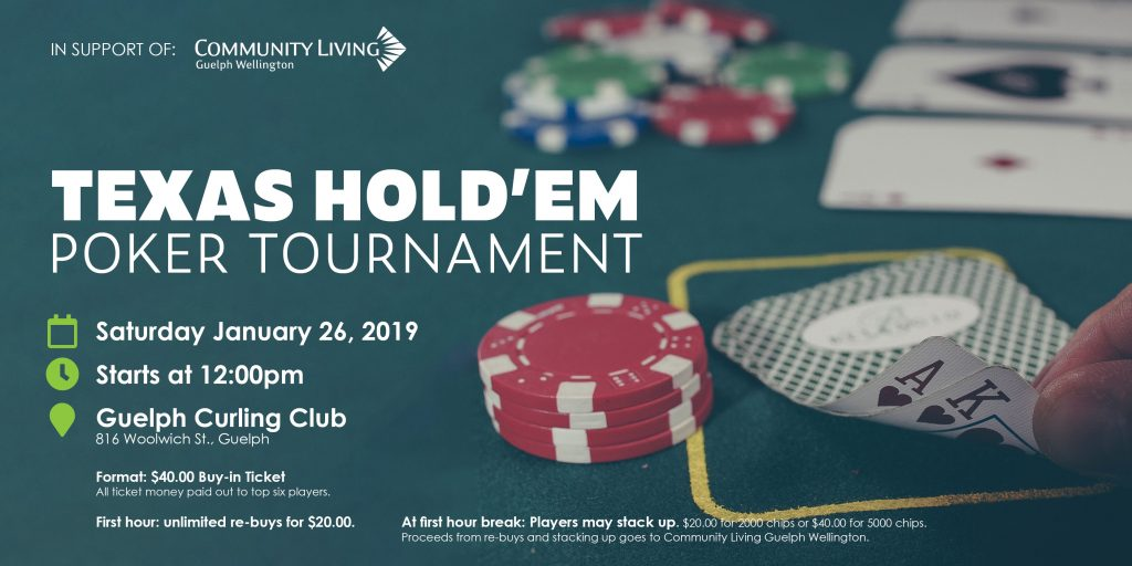 poker tournament for community living guelph wellington, disability