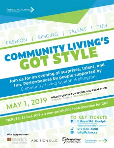 community livings got style, talent show, community living guelph wellington