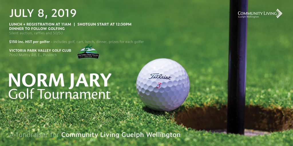 norm jary, save the date, golf tournament guelph