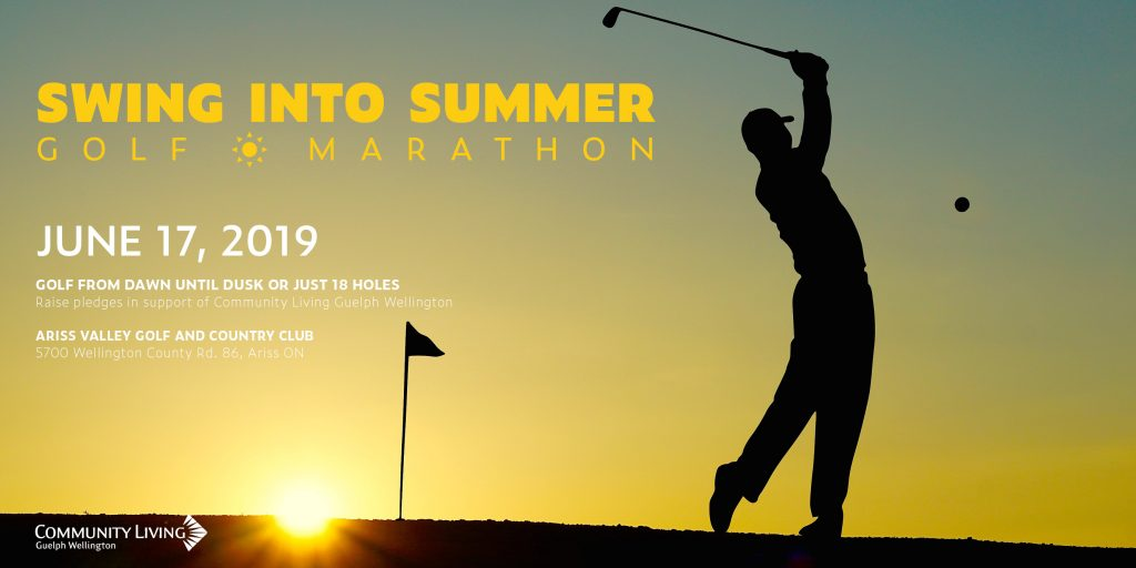 swing into summer, golf marathon, ariss valley golf course, fundraiser, clgw, disability