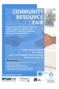 community resource fair for developmental services in guelph and wellington county