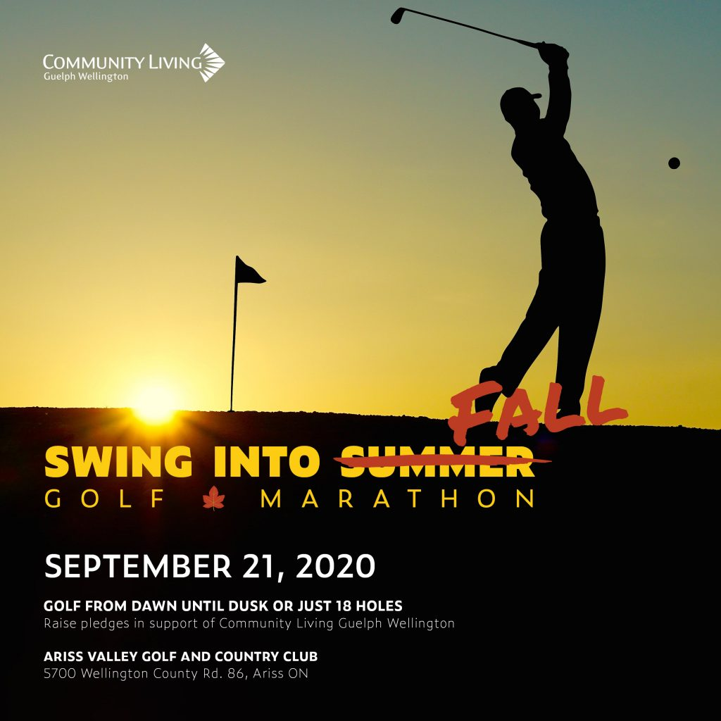 swing into fall, golf marathon, joe hamley, george wilson, community living guelph wellington, fundraiser
