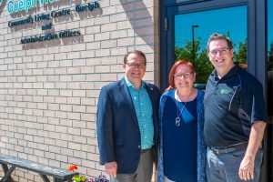 laura hanley, mike schriener, cam guthrie, community living guelph wellington