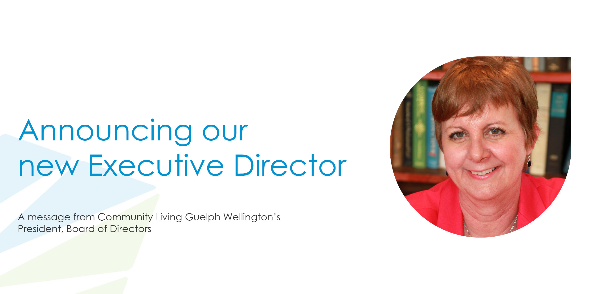 new executive director announcement, cindy kinnon, community living guelph wellington