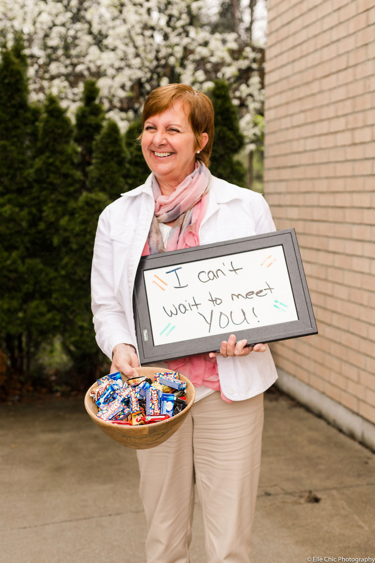 we've got this, photo series, one year later, covid-19, community living guelph wellington, elle chic photography, guelph ontario, disability, frontline heroes, cindy, executive director, we got this, chocolate bowl