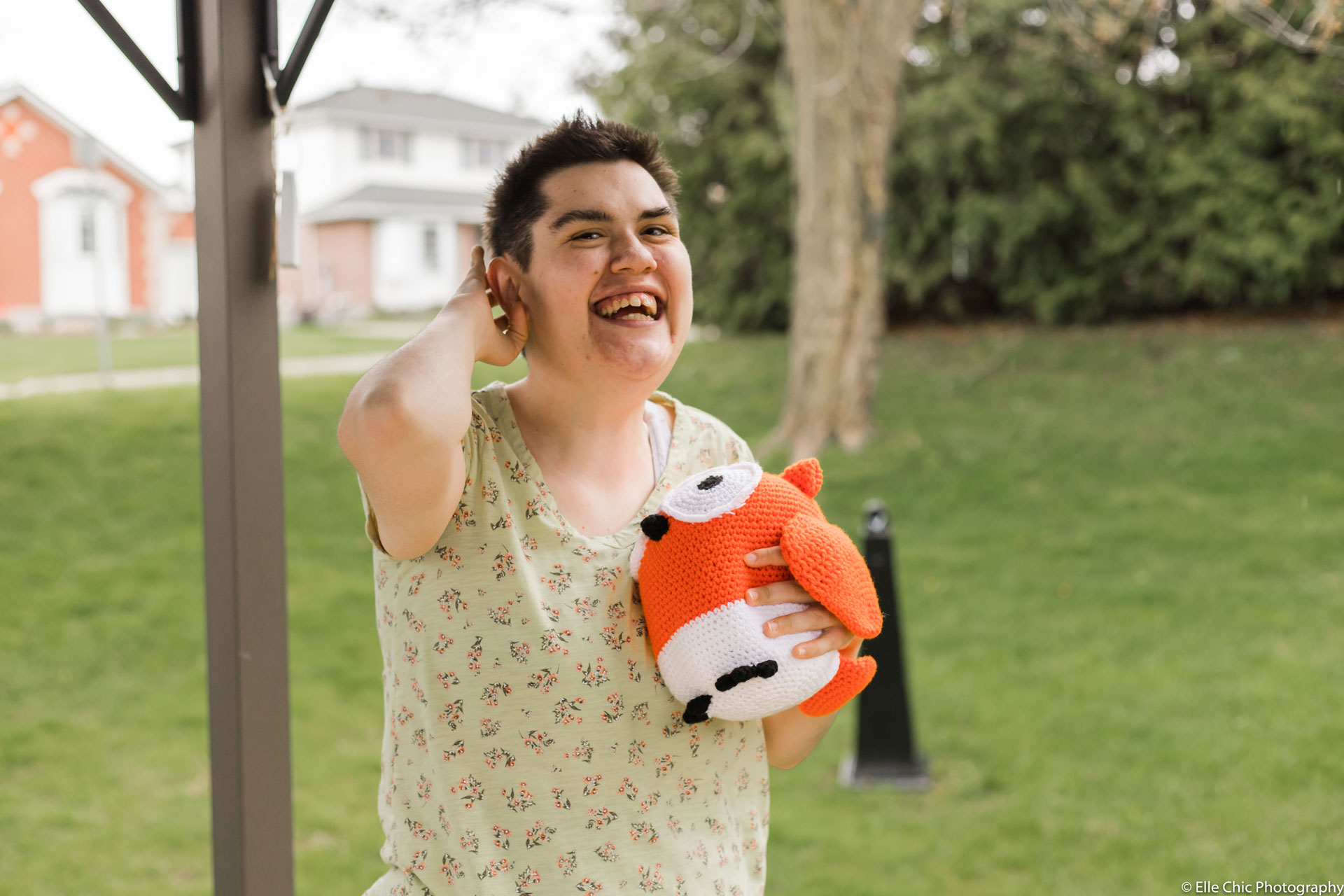 we've got this, photo series, one year later, covid-19, community living guelph wellington, elle chic photography, guelph ontario, disability, frontline heroes, nadine, plants, gardening